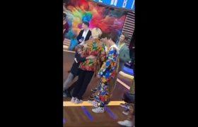 BTS on GMA - Reaction the little GIRL identity who HUG Jimin