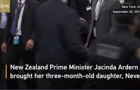 New Zealand PM brings her baby to UN General Assembly