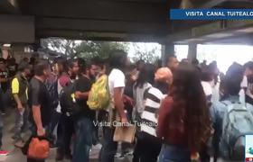 Estudiantes abren acceso al Metro de la CDMX por Marcha del Movimiento del 68