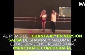 Britney Spears baila al ritmo de salsa