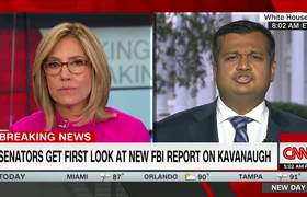 CNN anchor Alisyn Camerota and White House spokesman spar over Kavanaugh FBI probe