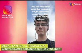 Instagramer denuncia a Aleks Syntek de acoso