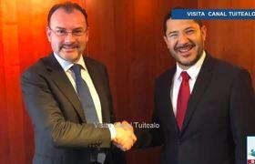 Videgaray sostiene encuentro con líderes del Senado por USMCA