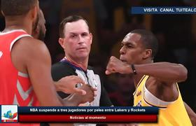 #NBA suspends three players for fight between Lakers and Rockets