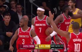 Brandon Ingram, Chris Paul, Rajon Rondo BRAWL in Lakers VS Rockets