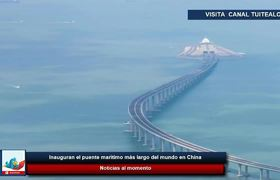 Inauguration of the longest sea bridge in the world in #China