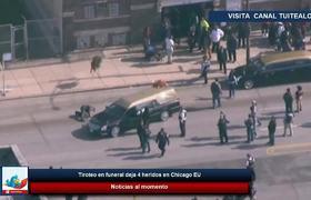 Tiroteo en funeral deja 4 heridos en Chicago