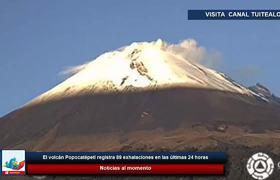 El Popocatépetl registra 89 exhalaciones en las últimas 24 horas