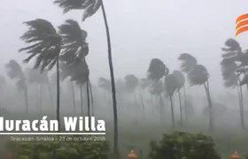 Arrival of Hurricane Willa to Sinaloa