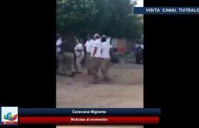 Agentes del INM intentan detener a centroamericano en Arriaga Chiapas y Escapa
