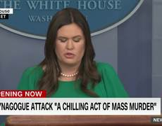Sarah Sanders gets emotional during White House press briefing