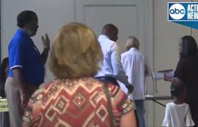 Democratic candidate for Florida Governor, Andrew Gillum, votes in Tallahassee
