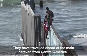 US-Mexico border: Central American migrants arrive at US border in Mexico