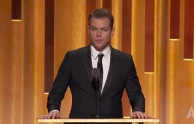 Matt Damon honors Frank Marshall and Kathleen Kennedy at the #2018GovernorsAwards