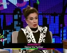 Laura Zapata abandona entrevista en vivo