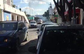 Desplazados son Reprimidos en Tuxtla Gutiérrez, Chiapas