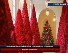 compare Christmas decoration of White House with 'El Resplandor'