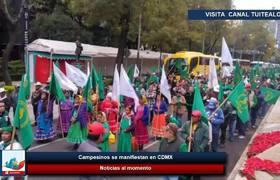 Campesinos se manifiestan en CDMX caos vehicular