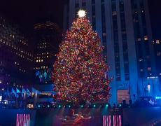 Rockefeller Centre #Christmas Tree lights up New York