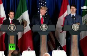 Trump, Peña Nieto y Trudeau firman el nuevo Tratado de Libre Comercio de América del Norte (TLCAN)