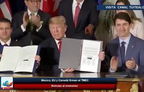 Trump, Peña Nieto y Trudeau firman el USMCA Acuerdo México EU y Canadá