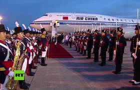 La guardia de honor argentina 'suplanta' al presidente chino Xi Jinping