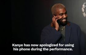Kanye West Apologizes For Using Phone During Cher Musica