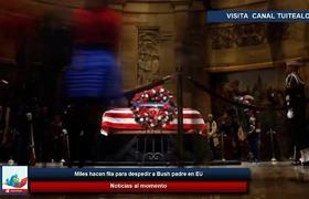 Miles hacen fila para despedir a George H.W. Bush en EU