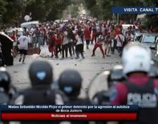 Sebastián Nicolás Firpo el primer detenido por la agresión al autobús de Boca Juniors