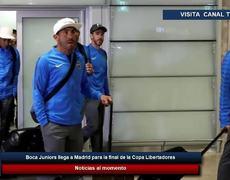 Boca Juniors llega a Madrid para la final de la Copa Libertadores