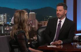 Jimmy Kimmel Confronts Jennifer Aniston