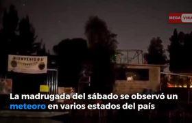 #VIDEO: Explosión de Popocatépetl y Meteoro ilumina el cielo de México