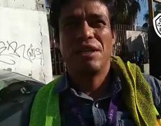 GUATEMALTECO MIGRANTE DE LA CARAVANA PIDE PARAR LA AYUDA PARA PONERSE A TRABAJAR