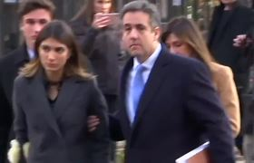 Michael Cohen arrives for sentencing
