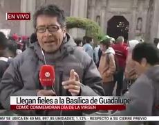 Llegan fieles a la Basílica de Guadalupe