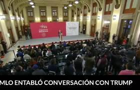 Conferencia de López Obrador tras tuit de Donald Trump