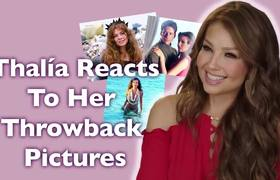 Thalia reacts to old pictures of her