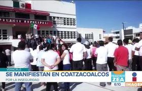 Cansados de la violencia, marchan por la paz en #Coatzacoalcos