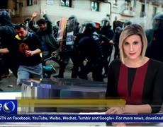 Catalan separatists clash with police as Spanish PM convenes cabinet in Barcelona