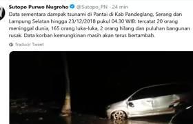 Imágenes del Tsunami provocado por erupción de volcán en Indonesia