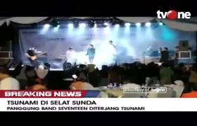 #VIDEO: Detik-detik Panggung Grup Band Seventeen Diterjang Tsunami