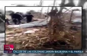 Imagenes de la avioneta que transportaba a funcionarios de Puebla