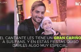 Maluma dió regalos a los niños