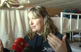 Entrevista con encargados de albergue donde se quedan miemrbos de la caraana migrante en Tijuana