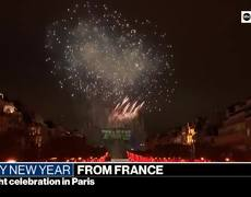 Stunning New Year light and fireworks show in #France