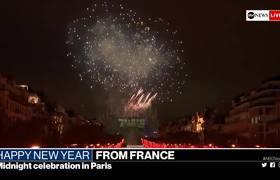 Impresionante juego de luces y fuegos artificiales en Francia para recibir el 2019