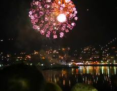 Wonderful Fireworks at Como Italy New Year 2019 -- Part 1