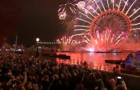 #2019 New Year's Eve Fireworks in London, UK