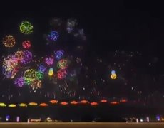Japan new year #2019 celebration fireworks