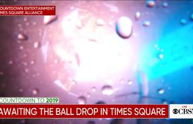 New Year's Eve ball drop in Times Square 2019